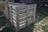4'x4' wooden crate