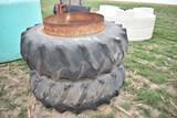 Set of 18.4-34 tires w/ rims