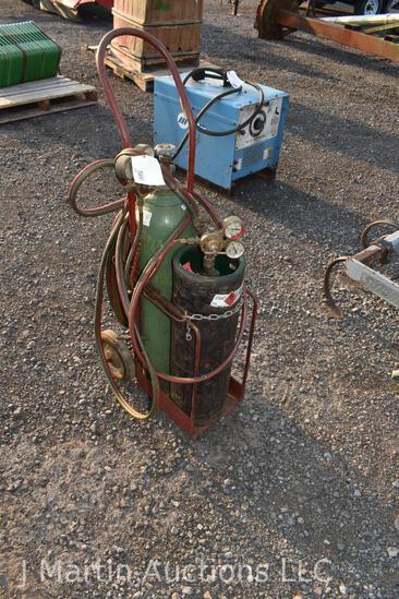 Torch set w/ cart