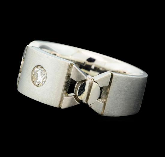 0.26 ctw Diamond Band - 18KT White Gold