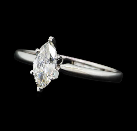 0.53 ctw Diamond Wedding Ring - 14KT White Gold