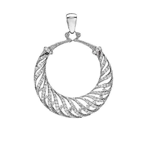 18k White Gold 2.80CTW Diamond Pendant, (VS2/G-H)