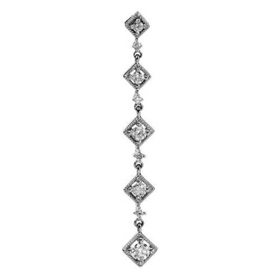 14k White Gold 0.33CTW Diamond Pendant, (I1-I2/G-H)