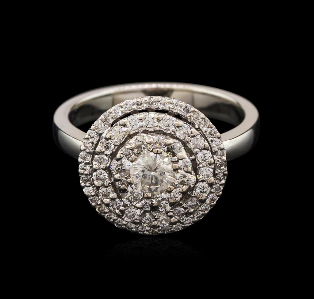 0.89 ctw Diamond Ring - 14KT White Gold