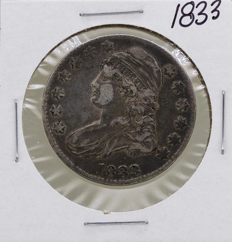 1833 Capped Bust Half Dollar Coin