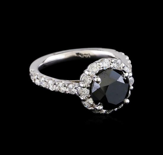 4.78 ctw Black Diamond Ring - 14KT White Gold