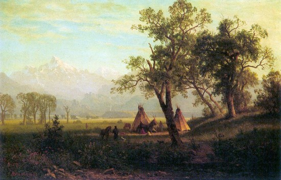 Wind River Mountains in Nebraska by Albert Bierstadt