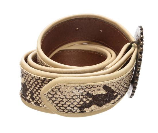 Dolce & Gabbana Snake Print Jewel Buckle Belt