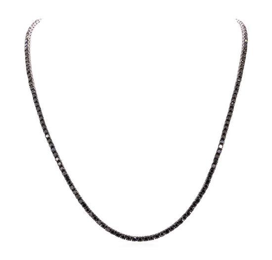23.05 ctw Black Diamond Necklace - 14KT White Gold