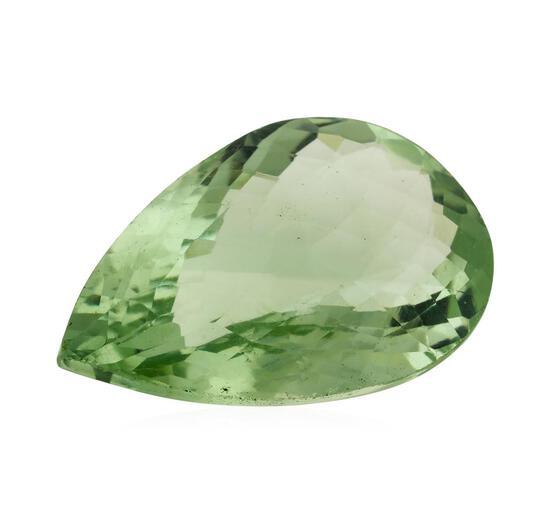 29.71 ct. Natural Pear Cut Green Amethyst