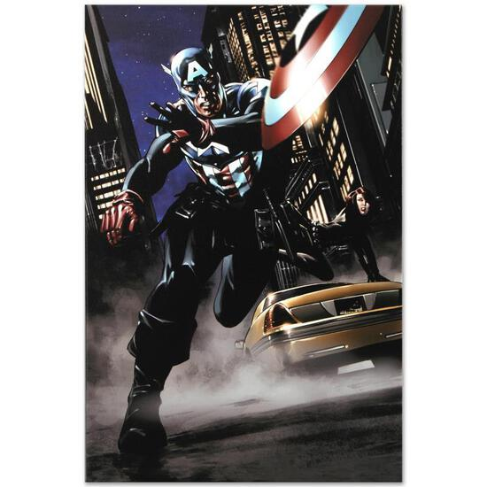 """Marvel Comics """"Captain America #34"""" Numbered Limited Edition Giclee on Canvas by"""