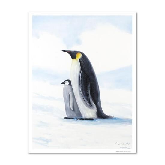 """""""Antarctic Penguins"""" Limited Edition Giclee on Canvas by Renowned Artist Wyland,"""