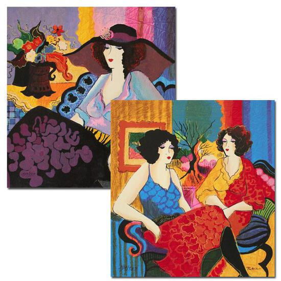 "Patricia Govezensky, ""Noa and Models Talking"" Hand Signed Set of 2 Limited Editi"