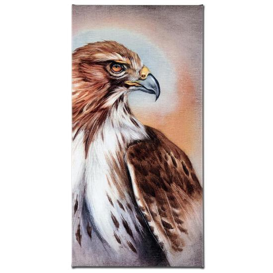"""American Redtail Hawk"" Limited Edition Giclee Gallery Wrapped Canvas on Canvas"