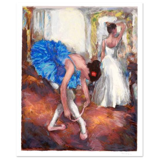 """Hedva Ferenci, """"Blue Dancer"""" Limited Edition Serigraph, Numbered and Hand Signed"""