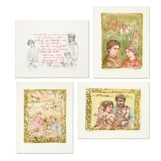"""Edna Hibel (1917-2014), """"The Family Suite Edition III"""" 4-Piece Limited Edition L"""