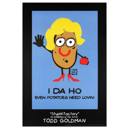 """I-DA-HO"" Collectible Lithograph (24"" x 36"") by Renowned Pop Artist Todd Goldman"