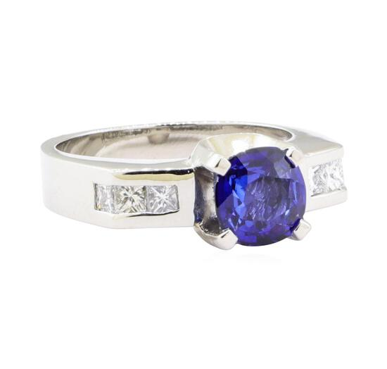 1.98 ctw Sapphire And Diamond Ring - Platinum