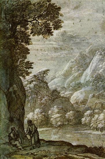 Claude Lorrain - Christs Seduction in Wilderness