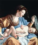 Orazio Lomi Gentileschi - Madonna with sleeping christ child