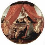 Sandro Botticelli - Maria with Christ Child and Three Angels