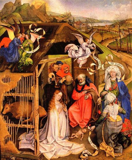 Robert Campin - Birth of Christ