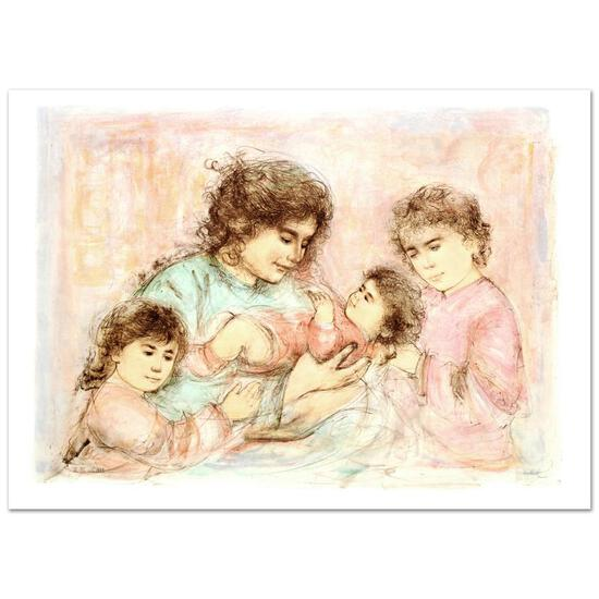 Marilyn and Children by Hibel (1917-2014)