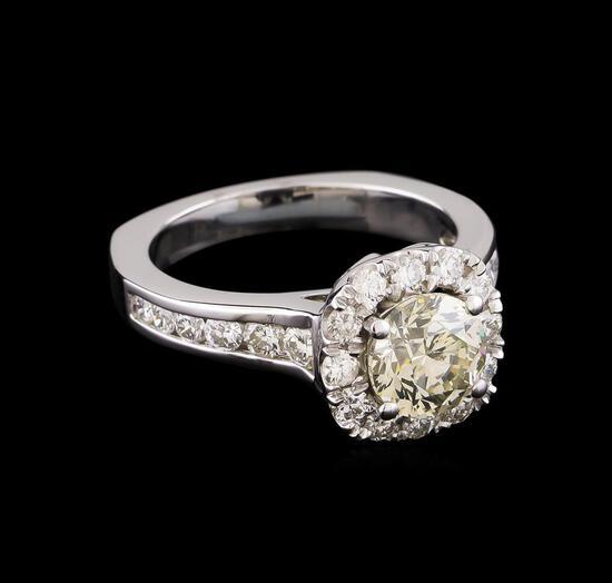 2.40 ctw Diamond Ring - 14KT White Gold