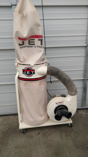 (8012)JET Single bag Dust collector, 110v