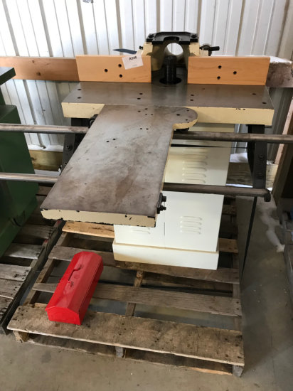(8007) Accura 1 1/4 inch Shaper (Line Shaft) with sliding table