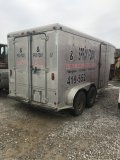7 x14 Enclosed Insulation Trailer, contents not included