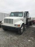 International 4700 1998 Flat bed Truck, Diesel, 24 foot bed