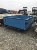 Blue Trailer with short sides, 8 foot
