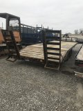 Flatbed Trailer Bumper Pull, 24 foot