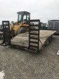 Flatbed Trailer  with pintle hitch, 20 foot