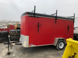 Red United Enclosed Trailer 6 x 12 foot