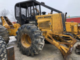 John Deere 540D Skidder with cable