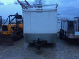 Enclosed utility trailer 7 x 14 foot with roof rack