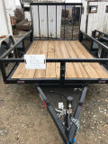 Brand New utility trailer with drop gate