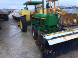 John Deere 2155 Tractor with Sweeper and rear blade