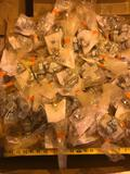Misc lot of unused hydraulic fittings and clamps, various sizes