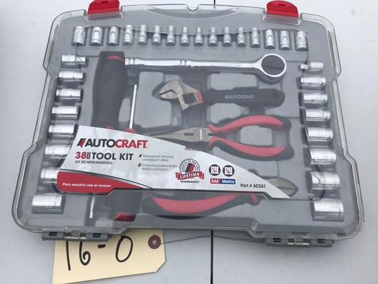 Autocraft 38 piece Tool Kit, NEW and all pieces are accounted for
