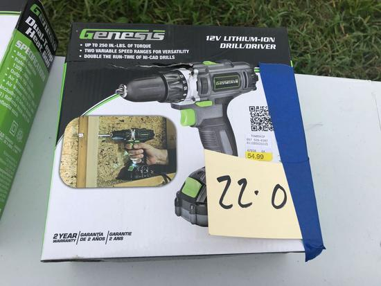 Genesis 12v Lithium Ion Drill Driver NEW in box