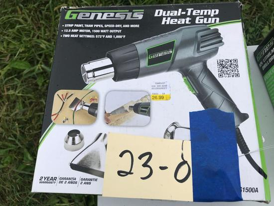 Genesis Dual Temp Heat Gun, NEW in box