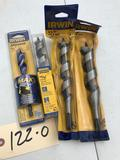 Irwin Boring Bits, 4 different sizes, all NEW