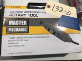 Master Mechanic Rotary Tool with 40 piece accessory kit