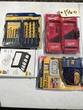 Assorted Drilling Items, Bits and Holesaw kits