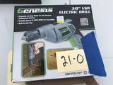 Genesis 3/8 inch Electric Drill NEW in box