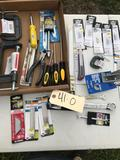 Hand Tool lot, screwdrivers, knife blades, wrenches, clamps and more