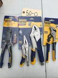 Lot of 4 Irwin Tools, pliers, Wise-Grip, and Sidecuts